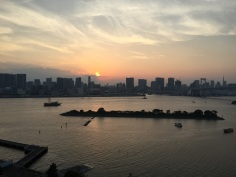 View of Tokyo Bay and the Rainbow Bridge, Tokyo