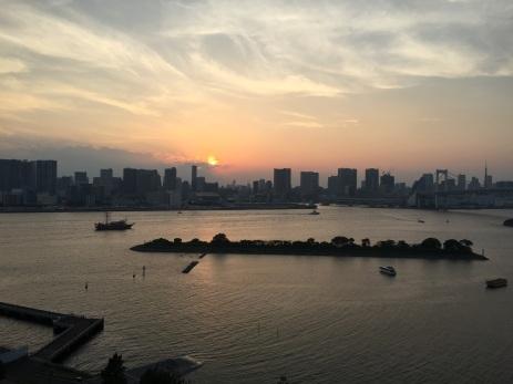 View of Tokyo Bay and the Rainbow Bridge, Tokyo
